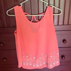 Boutique Small Pink Floral Shirt
